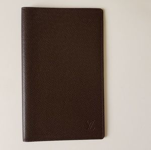 Louis Vuitton Agenda Notebook Cover Taiga Leather
